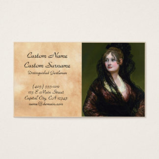 Portrait of Dona Isabel de Cabos Porsel   de Goya Business Card
