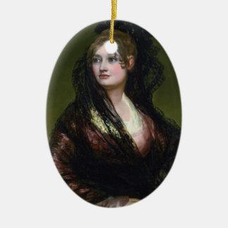 Portrait of Dona Isabel de Cabos Porsel   de Goya Ceramic Ornament