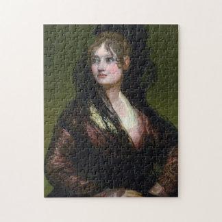 Portrait of Dona Isabel de Cabos Porsel   de Goya Jigsaw Puzzle