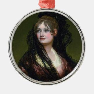 Portrait of Dona Isabel de Cabos Porsel   de Goya Metal Ornament