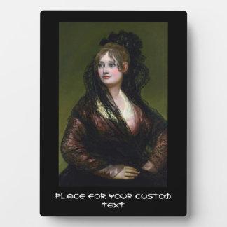 Portrait of Dona Isabel de Cabos Porsel   de Goya Plaque