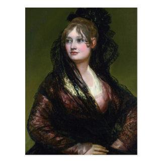 Portrait of Dona Isabel de Cabos Porsel   de Goya Postcard