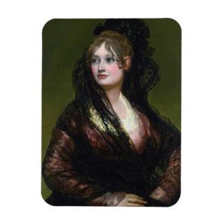 Portrait of Dona Isabel de Cabos Porsel   de Goya Rectangular Photo Magnet