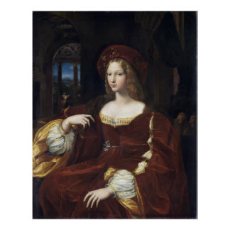 Portrait of Doña Isabel de Requesens by Raphael Poster