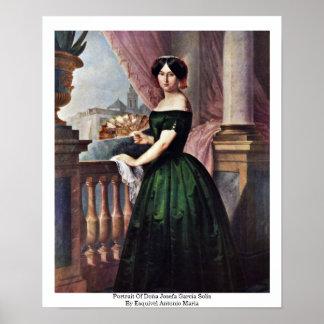 Portrait Of Doña Josefa García Solis Print