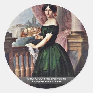 Portrait Of Doña Josefa García Solis Stickers