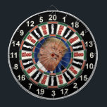 "Portrait of  Donald Trump political dart board<br><div class=""desc"">Portrait of  Donald Trump political dart board has Donald Trump in the center of the dart board with the words naughty or nice on it</div>"