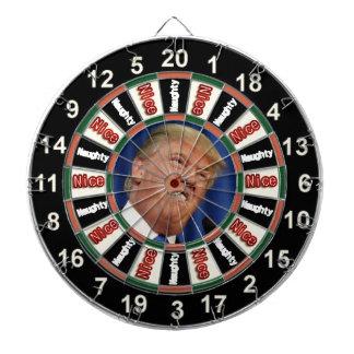 Portrait of  Donald Trump political dart board