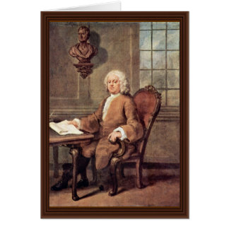 Portrait Of Dr. Benjamin Hoaldy By Hogarth, Greeting Card