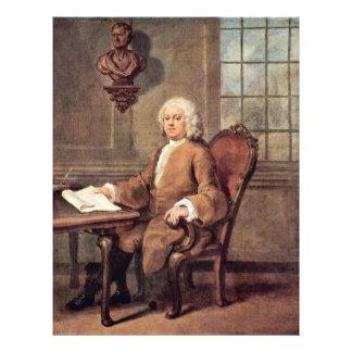 Portrait Of Dr. Benjamin Hoaldy By Hogarth, Customized Letterhead