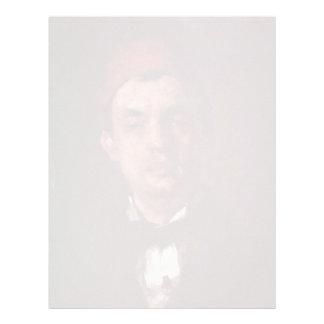 Portrait Of Dr. D. Grecescu By Grigorescu Nicolae Custom Letterhead