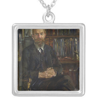 Portrait of Dr Edward Meyer  1910-11 Silver Plated Necklace