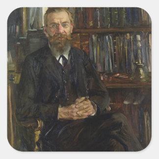 Portrait of Dr Edward Meyer  1910-11 Square Sticker