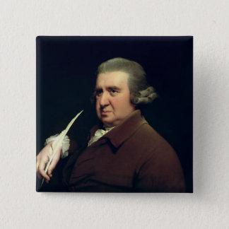 Portrait of Dr Erasmus Darwin Button