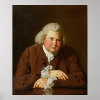 Portrait of Dr Erasmus Darwin Poster