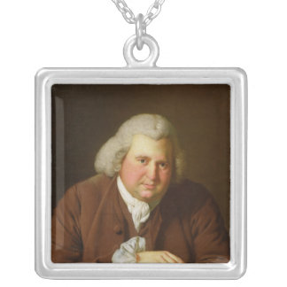 Portrait of Dr Erasmus Darwin Silver Plated Necklace