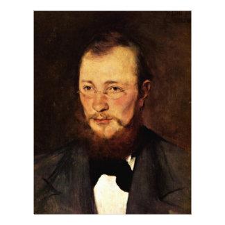 Portrait Of Dr. Frederick Rauert By Leibl Wilhelm Letterhead Template