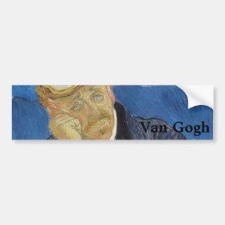 Portrait of Dr Gachet by Vincent Van Gogh Bumper Sticker