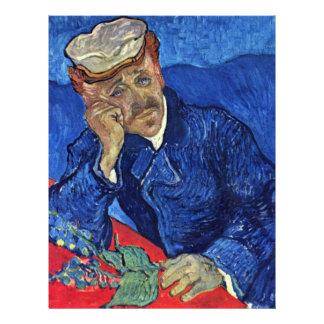 Portrait Of Dr. Gachet By Vincent Van Gogh Letterhead Design