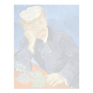 Portrait of Dr Gachet by Vincent Van Gogh Customized Letterhead
