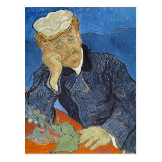 Portrait of Dr Gachet by Vincent Van Gogh Post Card