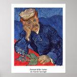 Portrait Of Dr. Gachet By Vincent Van Gogh Poster