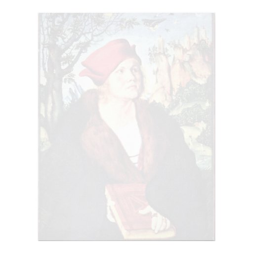 Portrait Of Dr. Johannes Cuspinian By Cranach D. Ä Personalized Letterhead