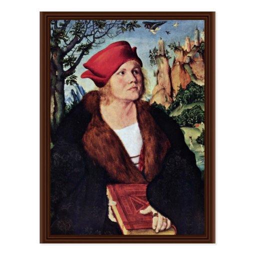 Portrait Of Dr. Johannes Cuspinian By Cranach D. Ä Post Card