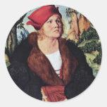 Portrait Of Dr. Johannes Cuspinian By Cranach D. Ä Sticker