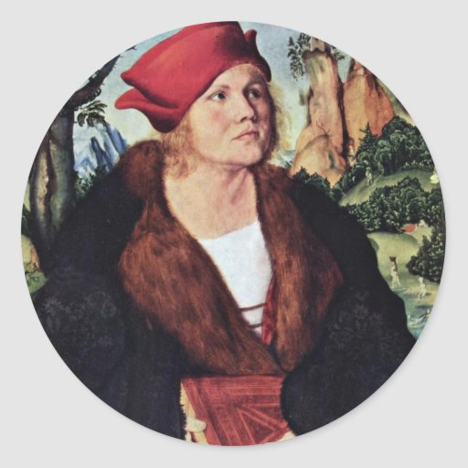 Portrait Of Dr. Johannes Cuspinian By Cranach D. Ä Sticker
