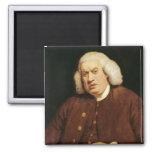 Portrait of Dr. Samuel Johnson 2 Inch Square Magnet