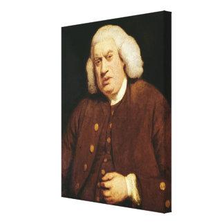 Portrait of Dr. Samuel Johnson Canvas Print