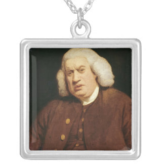 Portrait of Dr. Samuel Johnson Silver Plated Necklace