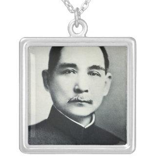 Portrait of Dr. Sun Yat-Sen Square Pendant Necklace
