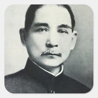 Portrait of Dr. Sun Yat-Sen Square Stickers