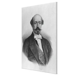 Portrait of Duc Charles de Morny  c.1850 Canvas Print
