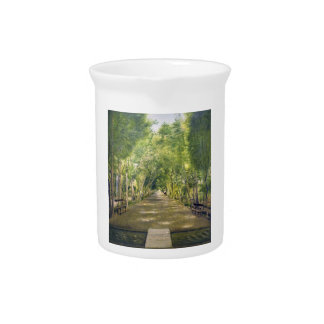 Portrait of Duchamp hills of ol Dushan Tappe Beverage Pitcher
