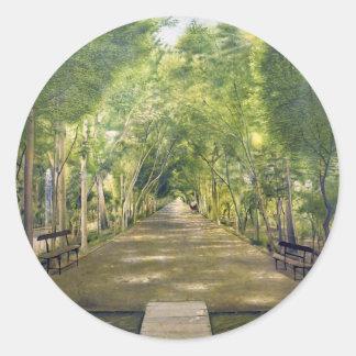Portrait of Duchamp hills of ol Dushan Tappe Round Stickers