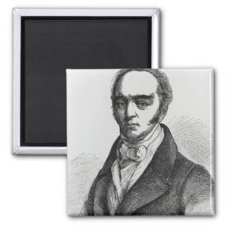 Portrait of Earl Grey 2 Inch Square Magnet