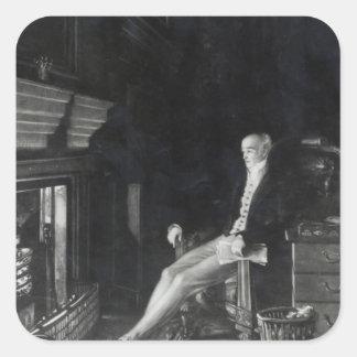 Portrait of Earl Grey Square Sticker