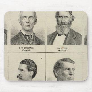 Portrait of Early Settler Bottineau, Minnesota Mouse Pad