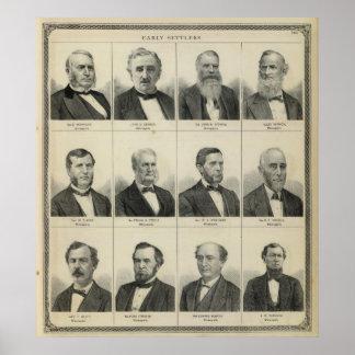 Portrait of Early Settler Morrison, Minnesota Poster