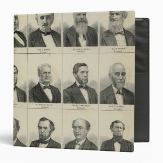 Portrait of Early Settler Morrison, Minnesota Vinyl Binder