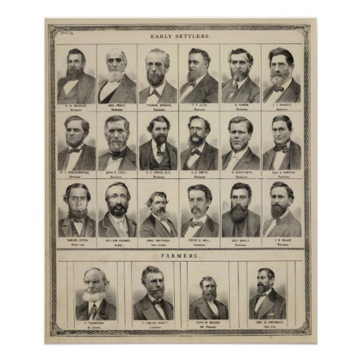 Portrait of Early Settlers and Farmers, Minnesota Poster