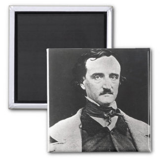 Portrait of Edgar Allan Poe 2 Inch Square Magnet