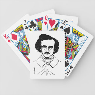 Portrait of Edgar Allan Poe Bicycle Playing Cards