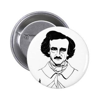 Portrait of Edgar Allan Poe Buttons