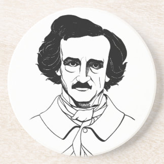 Portrait of Edgar Allan Poe Drink Coaster