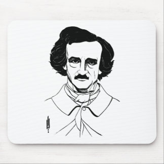 Portrait of Edgar Allan Poe Mouse Pad