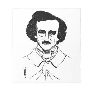 Portrait of Edgar Allan Poe Notepad